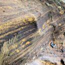 Kawasaki Steel Corp. Wonsan iron sand iron ore mountain