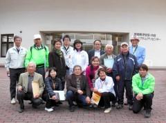 栗駒山麓ジオパーク構想の皆さんと記念写真